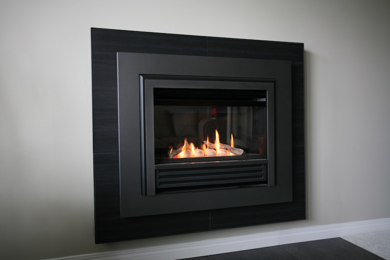 Hung Fireplace