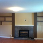 Fireplace Mantle, Posts and Shelving Unit