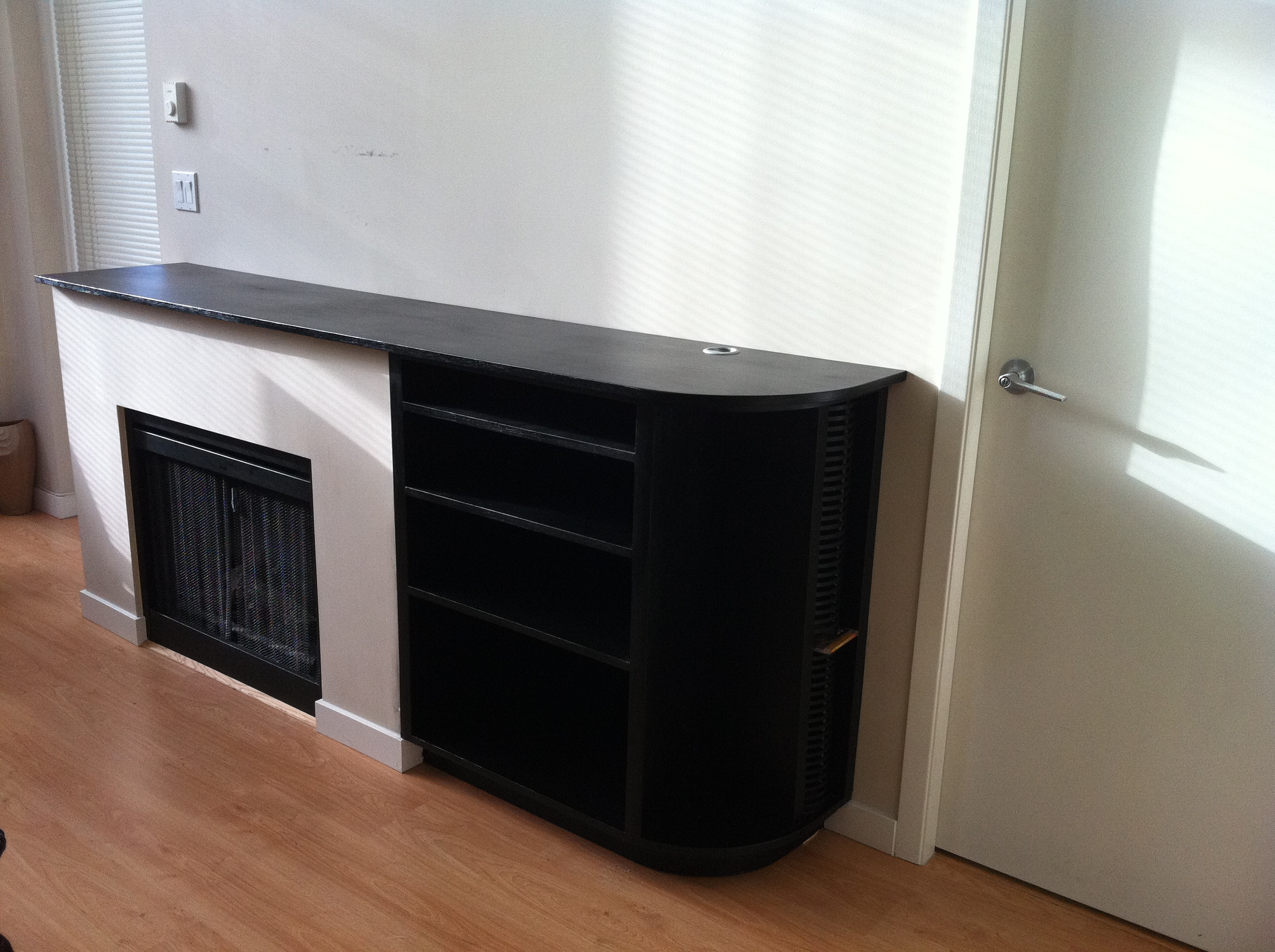 Fireplace Unit with Shelves 2