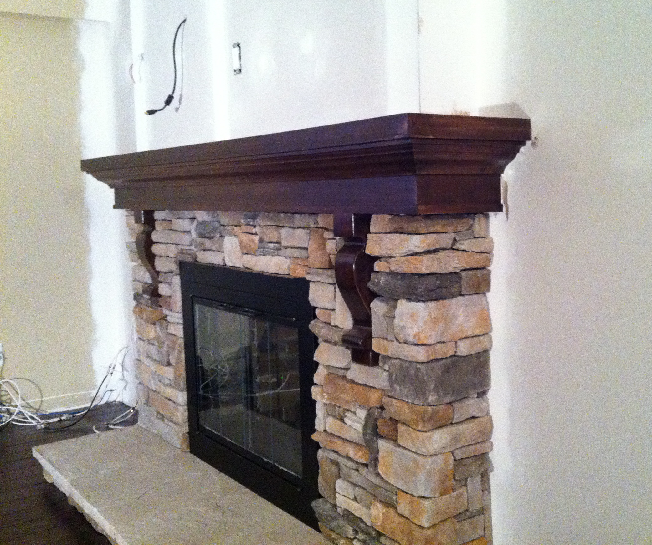 Fireplace Mantle and Stone Work 2